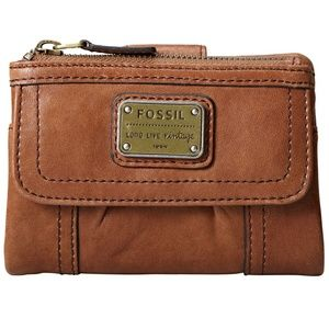 FOSSIL Emory Multi Function Saddle Trifold Wallet